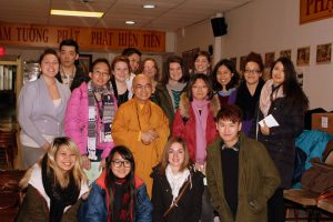 group of students at Vietnamese Buddhist Temple