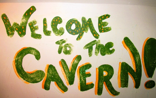 Welcome to the Cavern Sign